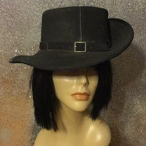Excalibur Leather unisex Black Safari Hat